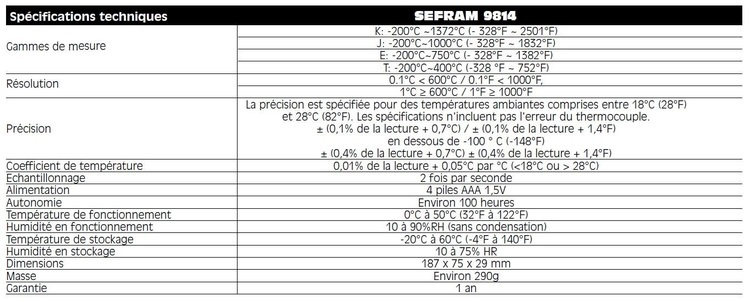 Thermomètre enregistreur multi-voies en 4 canaux
