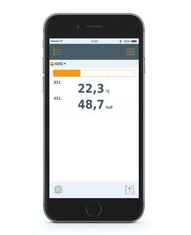 Thermo-hygromètre avec commande Smartphone - TESTO 605 i