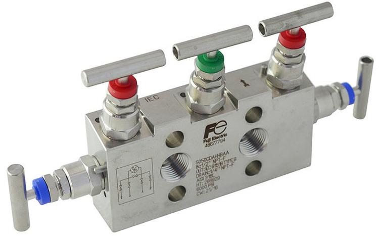 MANIFOLD pour les transmetteurs de pression différentielle, relative et absolue des séries FCX-AII