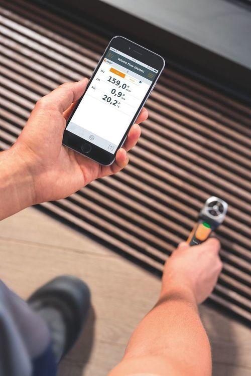 Anémomètre à hélice avec commande Smartphone - Testo 410 i