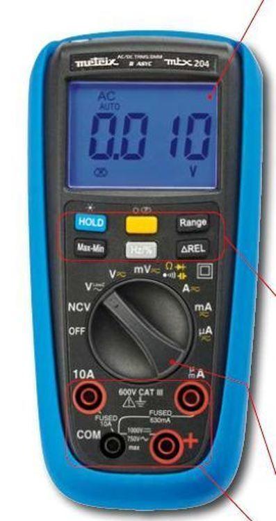 Multimètres numérique TRMS jusqu'à 6000 pts - Gamme MTX20X