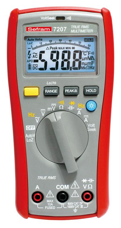 Multimètre TRMS AC 6000 points SEFRAM 7207