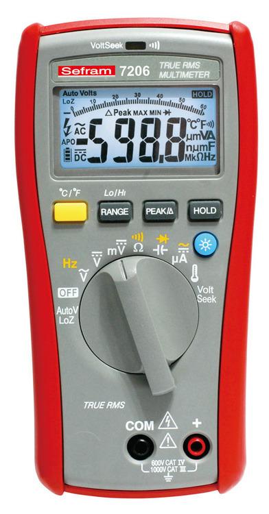 Multimètre Sefram 7206 TRMS AC 6000 points