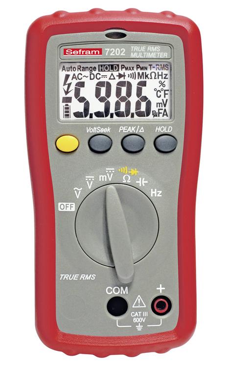 Multimètre Sefram 7202  TRMS AC 6000 points