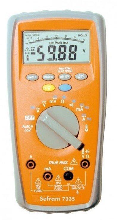 Multimètre numérique 6000 points - TRMS SEFRAM 7335
