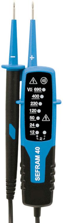 Détecteur de tension AC/DC et testeur de continuité à LEDS - SEFRAM 40