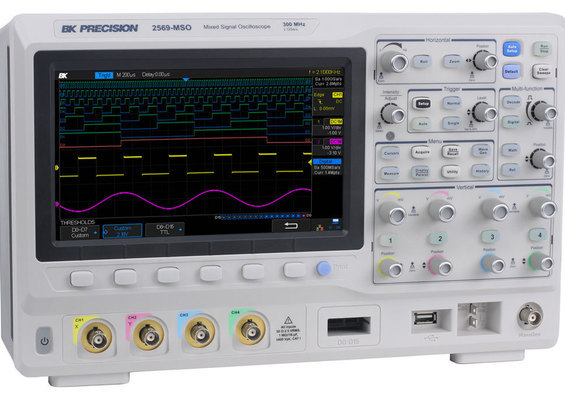 Oscilloscope numérique 2 et 4 voies DSO et MSO 70 MHz, 100 MHz, 200 MHz et 300 MHz