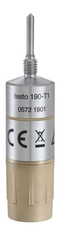 Enregistreur de température autoclave CFR avec courte sonde rigide testo 190-T1