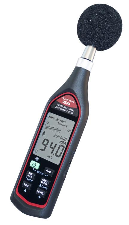 Sonomètre numérique enregistreur portable Modèle 9836