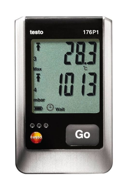 Enregistreur de température, humidité et pression Testo 176 P1