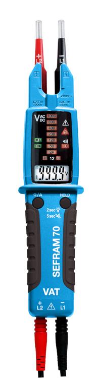 VAT Multimètre Pince Ampèremétrique SEFRAM 70