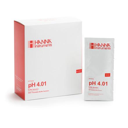 Solution tampon pH 4.01 25 sachets de 20 ml HI70004P