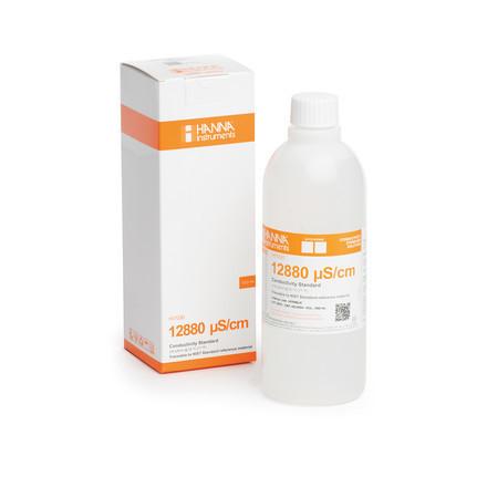 Solution d'étalonnage de conductivité à 12.88 mS/cm bouteille 500 ml HI7030L