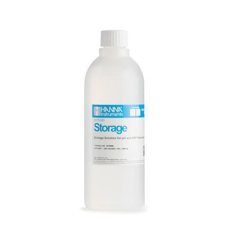 Solution de conservation pour électrodes bouteille 500 ml HI70300L