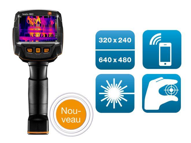 Nouvelle caméra thermique testo 883